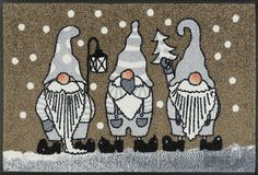 wash+dry by Kleen-Tex: wash+dry by Kleen-Tex: Kollektion Christmas Rugs, Coir Doormat, Hazelwood Home, Bird Houses, Color Trends, Brown And Grey, Winter, Artsy, Snoopy