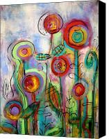 Circus Flowers Painting by Carla MacDiarmid - Circus Flowers Fine Art Prints and Posters for Sale