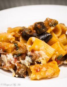 Aubergine and Tomato Pasta Bake-6