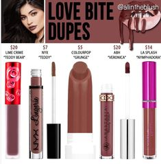 Kylie's new shade Love Bite dupes
