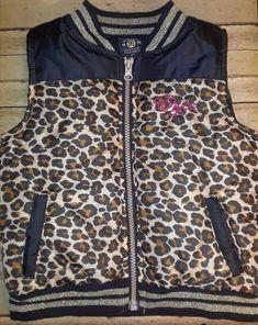 5371451fca Enyce Toddler Girls Winter Puffer Vest Leopard Black Gold 4T EUC  enyce   Vest Puffer