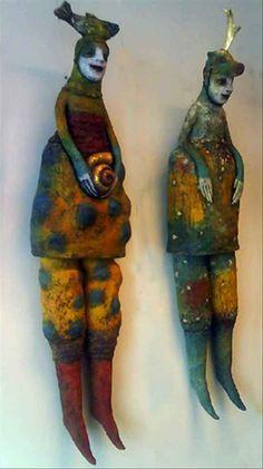 Kunst og håndverk Ceramic Sculptures, Christmas Cards, Felt, Decorating, Dolls, Culture, Christmas E Cards, Decor, Baby Dolls