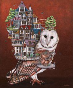 Owls Landing by Brandy Masch Canadian Art, Owls, Landing, Fine Art, Bird, Drawings, Illustration, Artwork, Animals