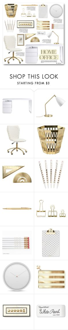 """""""Work Hard: Home Office"""" by jelenalazarevicpo ❤ liked on Polyvore featuring interior, interiors, interior design, home, home decor, interior decorating, Bellini, Gubi, PBteen and Ghidini 1961"""