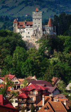 Bran Castle and Bran city, Transylvania