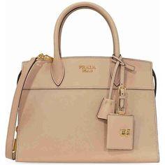 e243111c6443 Prada Medium Esplanade Leather Tote Bag - Cameo (2