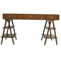 French Marine Navigator's Desk   From a unique collection of antique and modern desks and writing tables at https://www.1stdibs.com/furniture/tables/desks-writing-tables/
