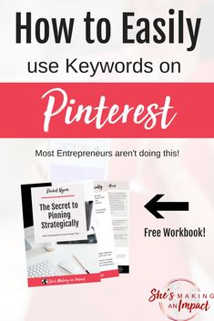 Today, let's talk all about keywords on Pinterest.Using keywords on Pinterest is super important because Pinterest is more of a search engine than it is a social media platform. Using the right keywords factor in how many people will actually see your content on Pinterest. Repin and grab the free keyword planning worksheet! blogging tips, entrepreneur tips, blogging for beginners, make money online