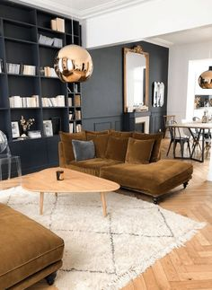 Déco salon industriel berbère noir et blanc moderne chic Interior Design Living Room, Living Room Designs, Living Room Decor, Living Spaces, Bedroom Decor, Lounges, Sofa Layout, Beautiful Living Rooms, Vintage Home Decor