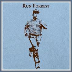 Run Forrest Run T Shirt Gump Running Funny Tee