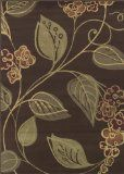 Dalyn Carlisle Chocolate, Olive, Red, Sage Graphic Floral Vine Patterns On by Area Rug