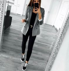 Casual work outfit with blazer