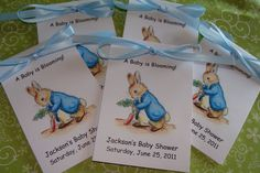 garden seeds for baby shower favors | brightly colored garden tools to suggest mr mcgregor s garden