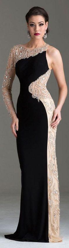 Clarisse One Shoulder Evening Dress