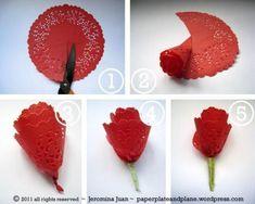 розы из салфеток фото | Photo-Bonus.ru