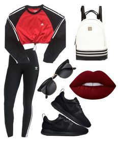 """Adidas + Nike ✔️"" by imogen-holmes97 ❤ liked on Polyvore featuring adidas, NIKE, River Island and Lime Crime"