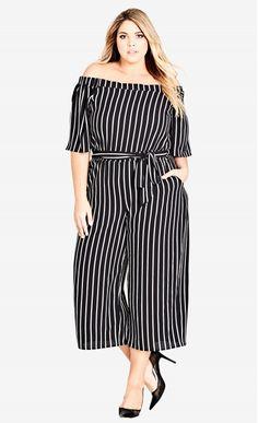 bcde42a1372 Shop Women s Plus Size Stripe Play Jumpsuit