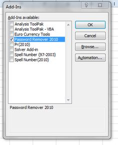 Learn Microsoft Excel: Excel 2010 Password Remover
