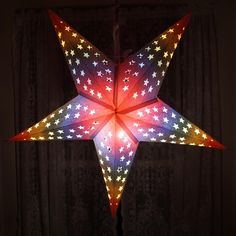 Rainbow Glow Star Lantern – ColorCraft Lights Paper Stars, Lanterns & More