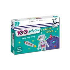 Kapitan Nauka 100 zabaw z robotem Eliotem 4-5 lat (Książka + 30 ścieralnych kart + flamaster)