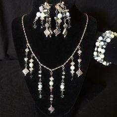 Celtic necklace earring and bracelet set with by ScottishDryAd