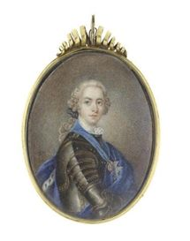 Miniature of Prince Charles Edward Stuart (1688-1766), early 18th century by Louis Tocque