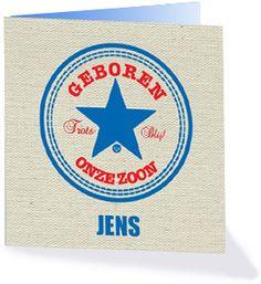 Ben jij een all-star fan en zou jij het gaaf vinden om jouw ster voor te stellen met een all star geboortekaartje. Kijk dan op Kaartopmaat.nl bij de collectie Merkverpakkingen.