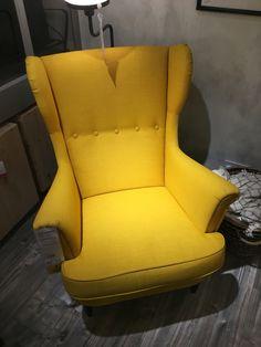 Ordinaire The Yellow Wingback Chair (IKEA)