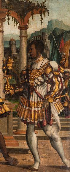 Bartlmä Dill Riemenschneider: (Burgstall-) Adoration of the kings, detail 2, Burgstall, city church (Anbetung durch die Hl. Drei Könige) - Wikipedia.de