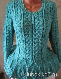 Женский свитер спицами. Автор Муза | Клубок