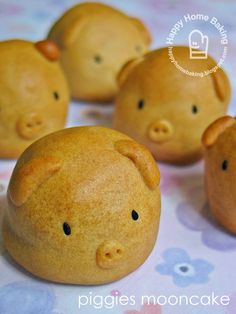 Cute piggy moon cake