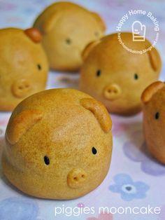 Cute piggy moon cake