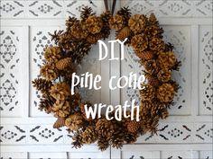 Door wreath made of cones : Make a door wreath from cones. You need: a metal ring, washers, Bockerl and the hot glue gun Make a door wreath from cones. You need: a metal ring, washers, Bockerl and the hot glue gun Diy Fall Wreath, Xmas Wreaths, Wreath Crafts, Door Wreaths, Pine Cone Art, Pine Cone Crafts, Pine Cone Wreath, Rustic Christmas, Christmas Crafts