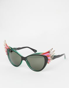 Image 1 - Jeepers Peepers - Lunettes de soleil yeux de chat originales motif oiseau
