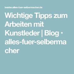 Wichtige Tipps zum Arbeiten mit Kunstleder   Blog • alles-fuer-selbermacher