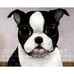 BOSTON TERRIER by Margaret Keane