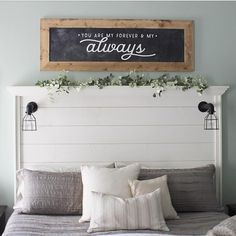 Guest bedroom for our next house. Shiplap headboard for guest bedroom. Love that idea! Home Decor Bedroom, Bedroom Wall, Bedroom Furniture, Diy Home Decor, Bedroom Ideas, Master Bedroom, Bedroom Designs, Bedroom Inspiration, Bed Ideas