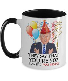 Funny 50th Birthday Trump Gift | Wife Husband Birthday Coffee Mug | Funny 50th Gift for Her Him | Mom Dad Brother Sister 50th Gift | Funny 60th Birthday Gifts, Funny Retirement Gifts, Special Birthday Gifts, Birthday Ideas, Birthday Cards, Funny Mothers Day Gifts, Funny Teacher Gifts, Anniversary Gifts For Parents, Anniversary Funny
