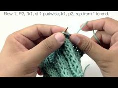 Knitting Patterns Cocoon How to Knit the Fancy Slip Stitch Rib Pattern (English Style) Knitting Stiches, Knitting Videos, Crochet Videos, Loom Knitting, Crochet Stitches, Knitting Patterns, Knit Crochet, Knitting Tutorials, New Stitch A Day