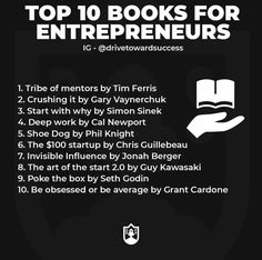 Today we're about to give you the number one WealthBuilding tip we can give you, which is to READ! As they say, great leaders are great readers. Here are 10 books every entrepreneur should read! Business Motivation, Business Quotes, Business Tips, Book Club Books, Book Lists, Good Books, Books To Buy, Books To Read, Entrepreneur Books