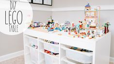 Loft Playroom, Montessori Playroom, Playroom Ideas, Trofast Ikea, Lego Table Ikea, Lego For Kids, Lego Room, Lego Storage, Diy Table