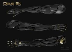 ArtStation - Deus Ex inspired limb design, Anthony Yoshida
