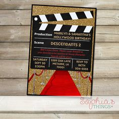Hollywood Memories Invitation Each Party Ideas Pinterest