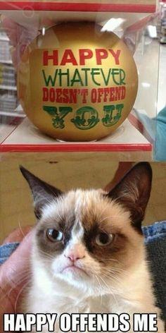 No Happy for Grumpy Cat! | Happy Offends Me ! | @makemelaughblog.tumblr.com