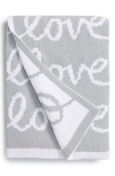 Chenille love blanket: Cute Valentine's Day gift idea for babies
