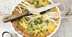 Recette de Clafoutis léger aux petits pois, jambon et fromage 0% ail et fines…