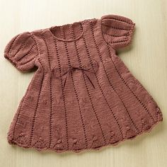 I think I may just have to have another girl baby so I can make this sweet little dress.