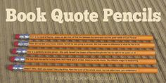 Book Quote Pencils