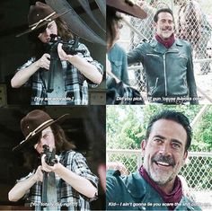 I'm a real fan of Negan and Carl's relationship. It's interesting