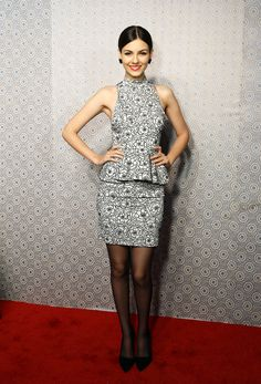 Victoria Justice, Alice & Olivia by Stacey Bendet Fall 2013.